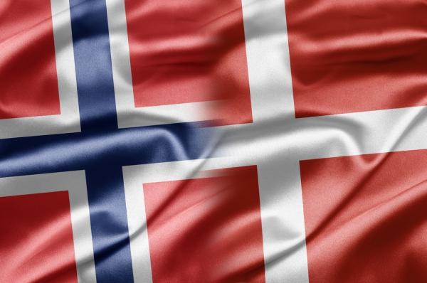 dansk norsk flagg